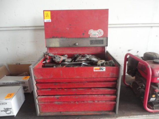 SNAP-ON TOOLBOX W/ASSORTED TOOLS