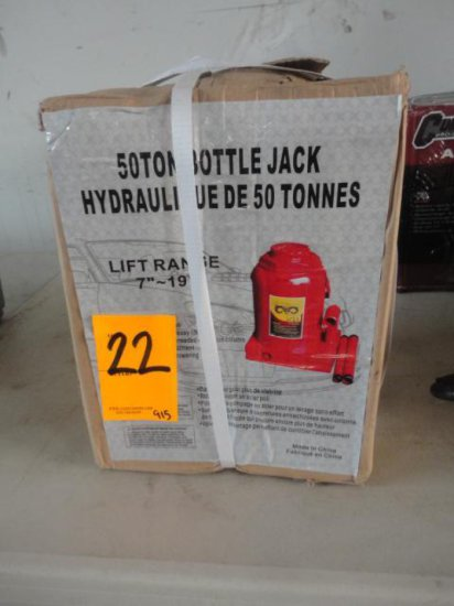 50 TON PNEUMATIC BOTTLE JACK