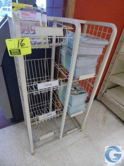 "26"" magazine merchandiser rack"