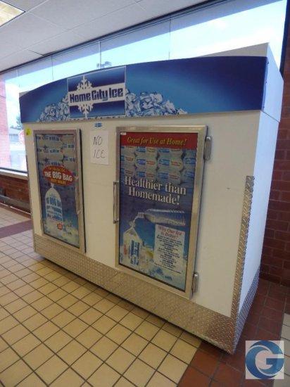 8' ice merchandiser with (2) doors
