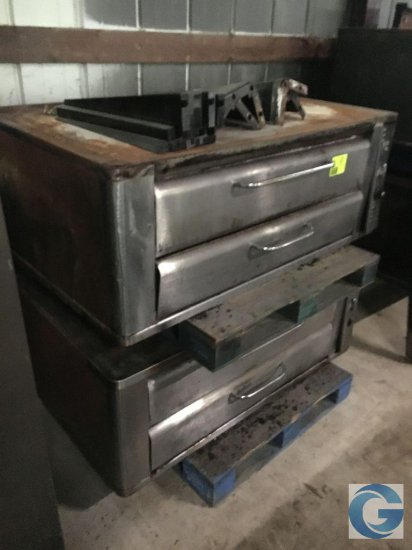 "42"" gas stainless steel pizza ovens with slate"
