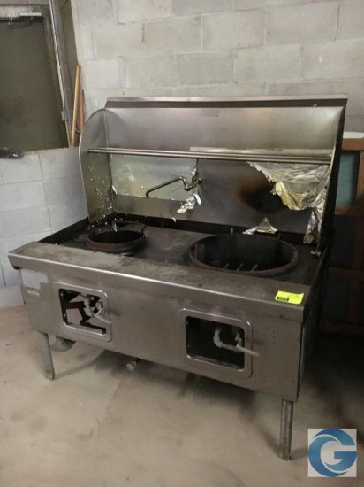"60"" Hobart gas stainless steel double boiling station"