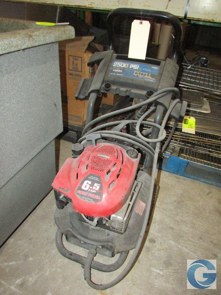 Excell 6 5hp Pressure Washer 2500psi With Briggs Stratton Motor