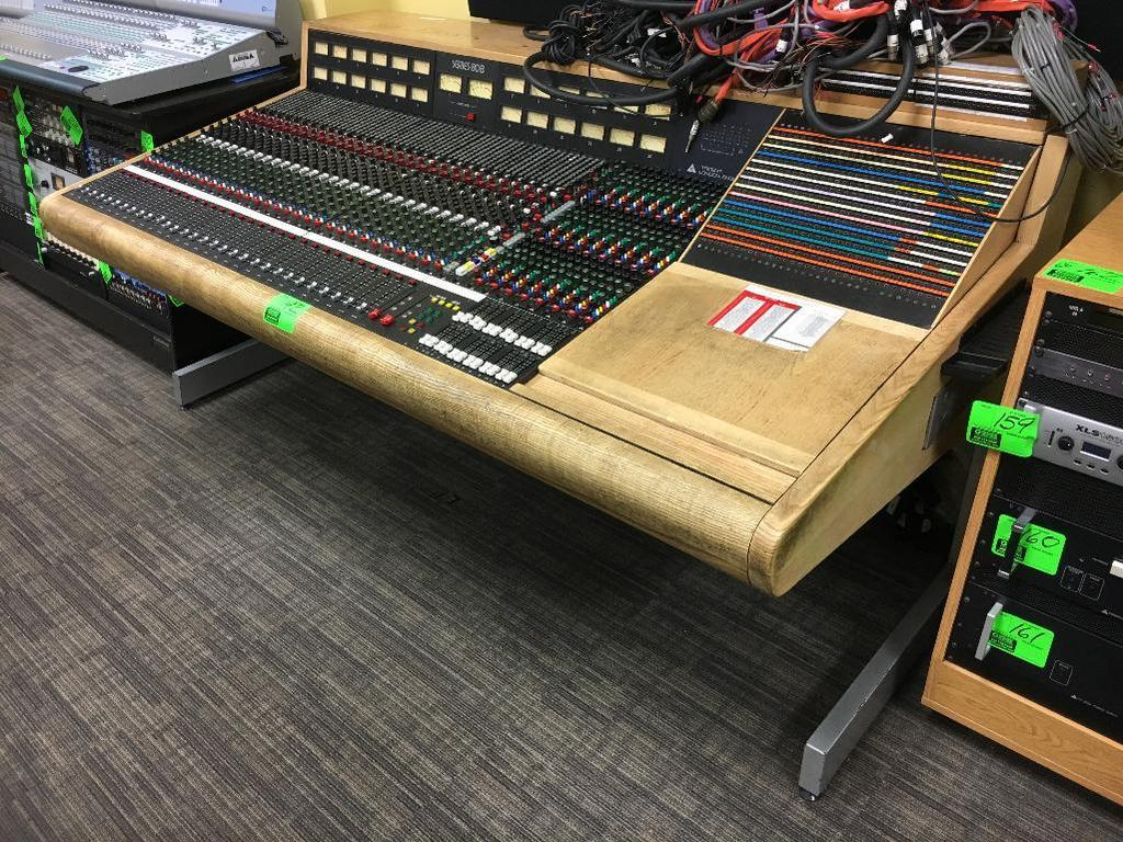 Trident Audio Series 80B analog mixing console with patch bay & various cabling (30-channel/24-bass)