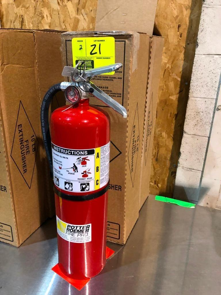 10-lb. dry chemical fire extinguishers (NEW)