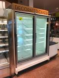 Hillphoenix OR22, '2009 silver frozen food doors with motion LED lights, gas defrost, and solid deck