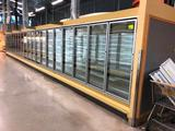 Hillphoenix ORZH3, '2007 silver frozen food doors with motion LED lights, gas defrost, & solid deck