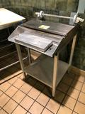 Stainless steel 1-roll wrapper with undershelf
