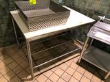 4' x 3' stainless steel poly top table