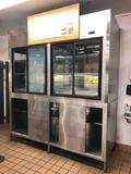 8' Hussmann ABG-36-57-8-R stainless steel dry aging cabinet with glycol and lower cabinets (remote)