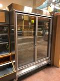 Hillphoenix ORZ2, '2007 silver frozen food doors with gas defrost, motion LED lights, and wire decks