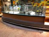 14' hard top wood laminated prep counter with glass guard