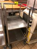 Stainless steel 2-tier pan cart