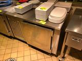 EMI R-BPT-10-CC self-contained stainless steel 1-door cooler with worktop