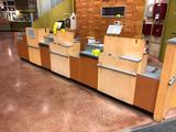 15' laminated express checkout counter