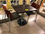 2' x 2-1/2' laminated top table with (2) chairs