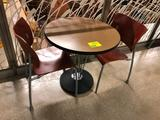 2-1/2' laminated top table with (2) chairs