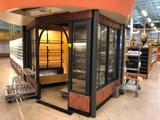 11' x 7' x 10' windowed floral walk-in cooler with 3-fan evap and 42