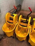 Rubbermaid portable fiberglass mop buckets