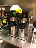 Bunn ICB-TWIN stainless steel coffee brewer with (2) stainless steel air pots, 120/208v 1-phase