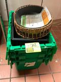 Poly trash bin