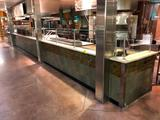Divider wall with upper glass guard (Approx. 37')