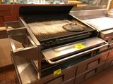 3' gas stainless steel countertop char-broiler