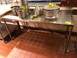 6' x 2' stainless steel table with backsplash