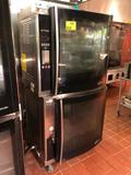 Alto Shaam (1) AR-7E and (1) AR-7H electric 7-spit rotisserie ovens with holding cabinet