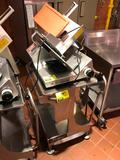 Face-to-Face stainless steel slicer stand