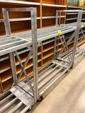 5' portable aluminum rack