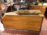 6' hard top wood laminated cabinet with glass guard