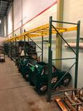 8' section of pallet racking, 42