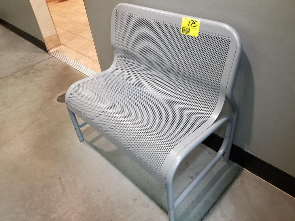 3' metal mesh waiting bench