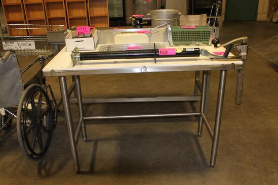 4' poly top table