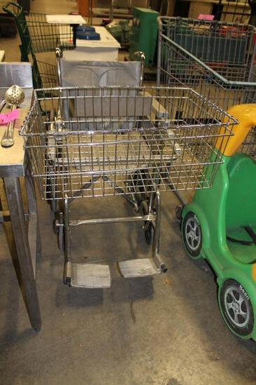 Care Chair wheelchair with shopping basket