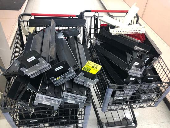 Quantity product pushers (NO Shopping carts)