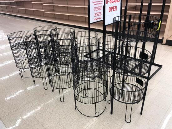 Black wire product bins