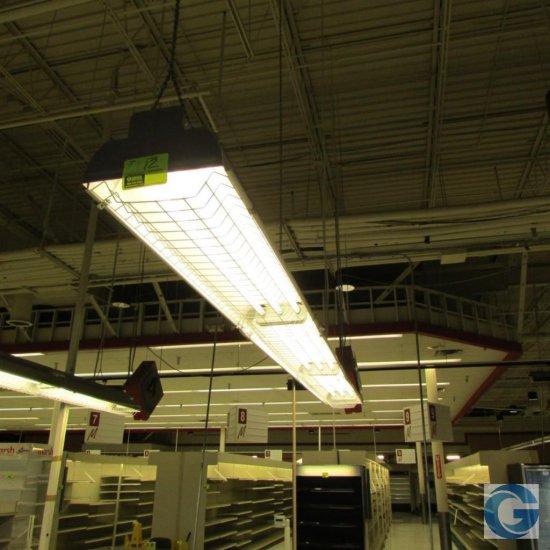 13' Hanging fluorescent bulb lights