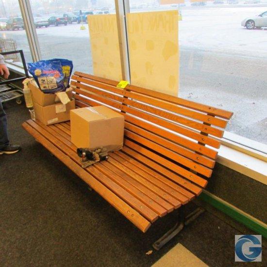 6' Wood park bench