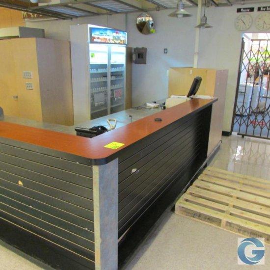 8' x 16' Customer service laminate counter w/base cabinets