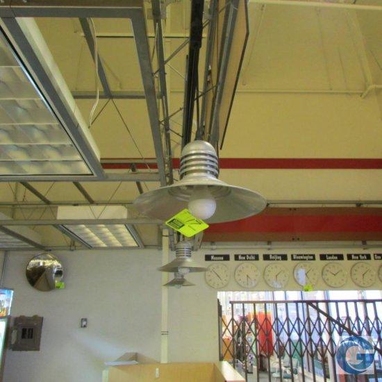 Galvanized metal pendant lights
