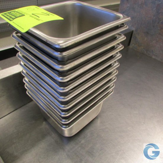 """6"""" x 7"""" x 4"""" Stainless steel insert pans"""