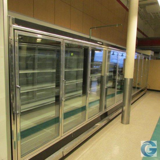 Hussmann RCA '90 frozen food doors, gas defrost, LED lights (5,5)