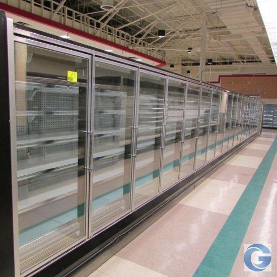 Hussmann RL '00 frozen food doors, gas defrost, LED lights (5,5,5,5)