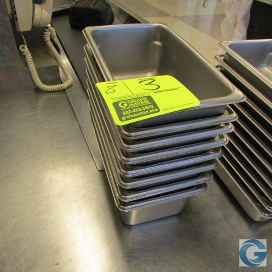 """6"""" x 10"""" x 4"""" Stainless steel insert pans"""
