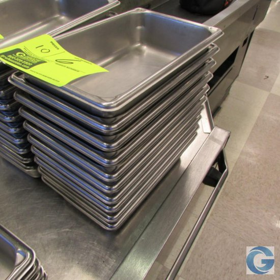 """6"""" x 10"""" x 2"""" Stainless steel insert pans"""