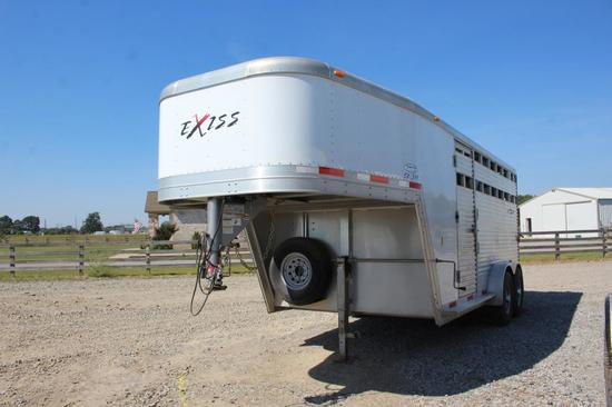 2008 Exiss 24' T/A GN 3-Horse Slant Trailer