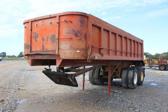 Palmer End 22' T/A Steel Dump Trailer