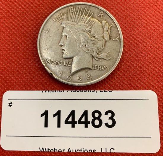 1924 Morgan Silver Dollar